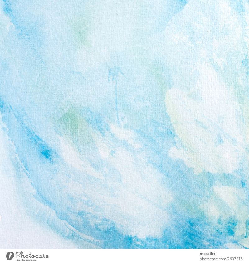blue Watercolours on Paper Art Painting and drawing (object) Emotions Dream Watercolors Tempera Education Intuition Creativity Inspiration Culture Surface