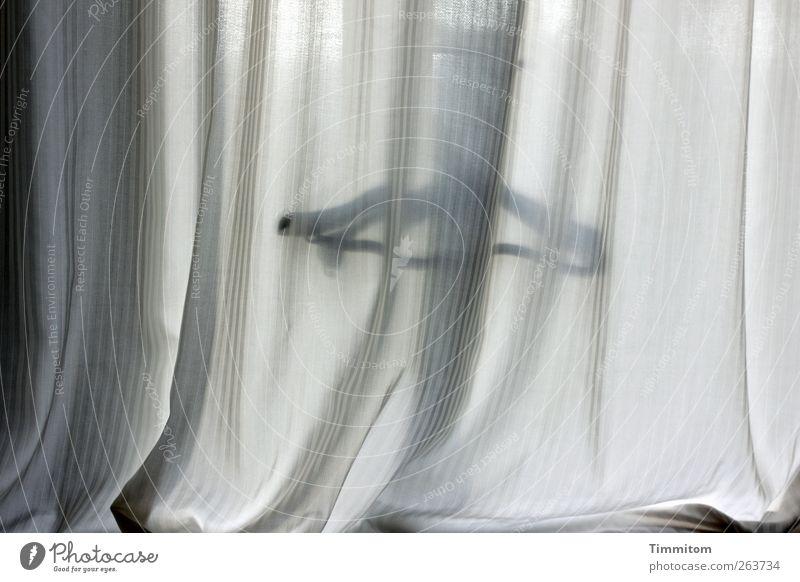 Black Window Emotions Gray Flat (apartment) Simple Drape Hanger Folds