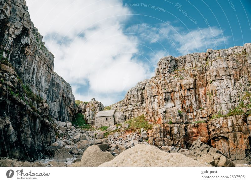 Wales Pembrokeshire St. Govan's Chappell. Vacation & Travel Trip Adventure Far-off places Summer Beach Ocean Mountain Nature Landscape Elements Earth Air Sky