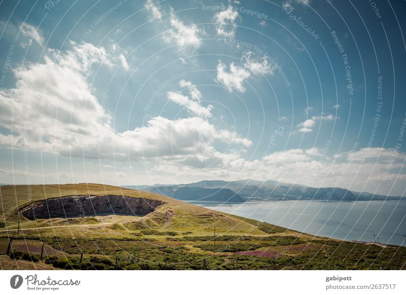 sky water mountains Wales Environment Nature Landscape Plant Animal Elements Earth Air Water Sky Clouds Sun Sunlight Summer Climate Weather Beautiful weather