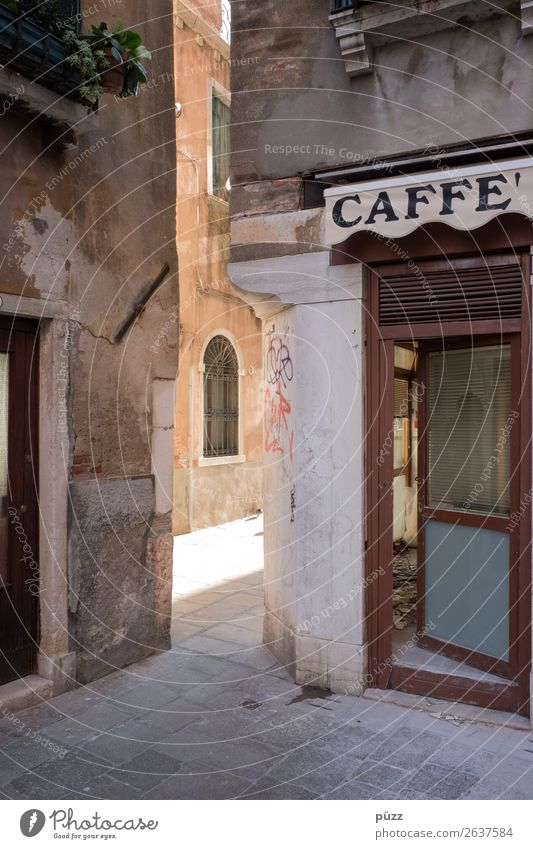 Caffe' To have a coffee Vacation & Travel Tourism Trip Sightseeing City trip Venice Town Port City Downtown Old town Deserted House (Residential Structure)