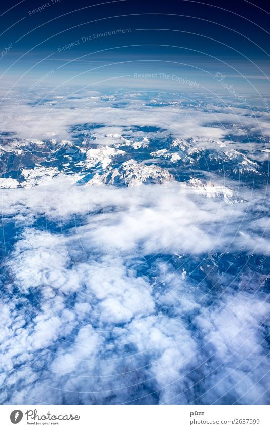 from above Vacation & Travel Adventure Far-off places Freedom Environment Nature Landscape Elements Air Sky Clouds Climate Climate change Beautiful weather Alps