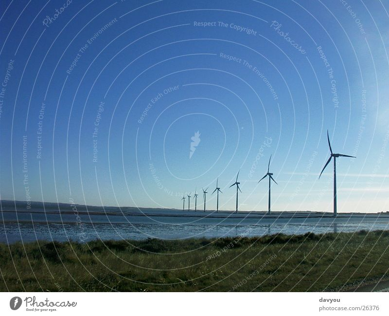Sky Nature Plant Water Summer Landscape Environment Coast Horizon Energy industry Power Wind Electricity Speed Technology Future