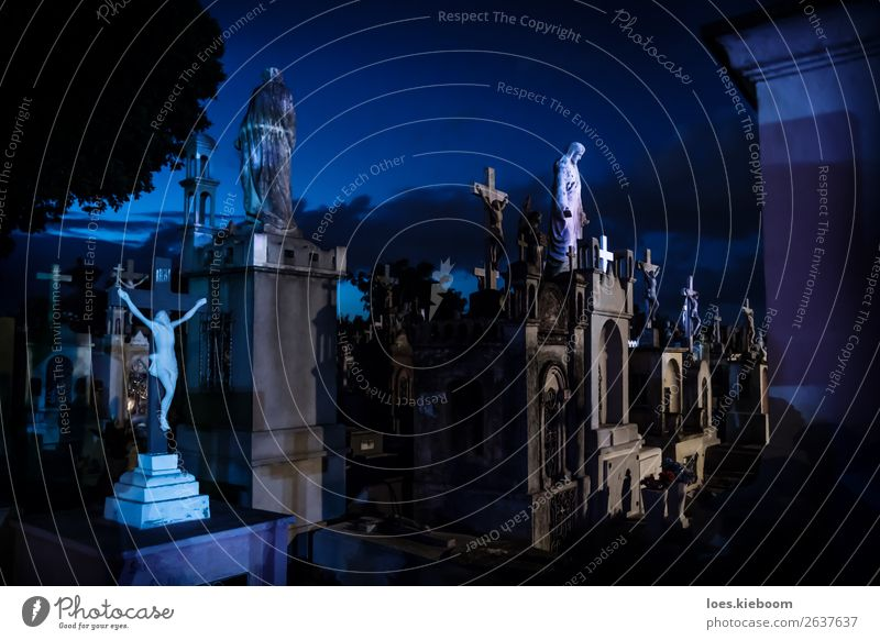 Blue Background picture Religion and faith Tourism Death Tourist Attraction Statue Creepy Hallowe'en Jesus Christ Grunge Tombstone, AZ Mérida