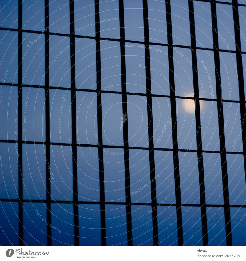 ##°# Sky Moon High-rise Architecture Facade Window Dark Gloomy Blue Secrecy Sadness Concern Esthetic Disappointment Hope Horizon Inspiration Perspective Calm