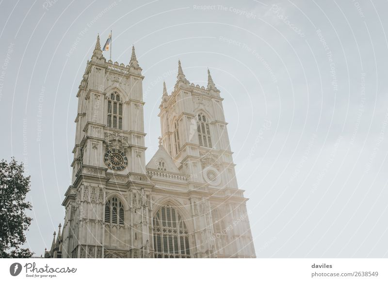 Westminster abbey with sunrays Vacation & Travel Tourism City trip Architecture Culture London Westminster Abbey England Europe Building Facade Landmark Bright
