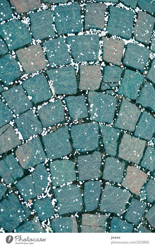 White Street Gray Stone Brown Lie Cobblestones Paving stone Confetti