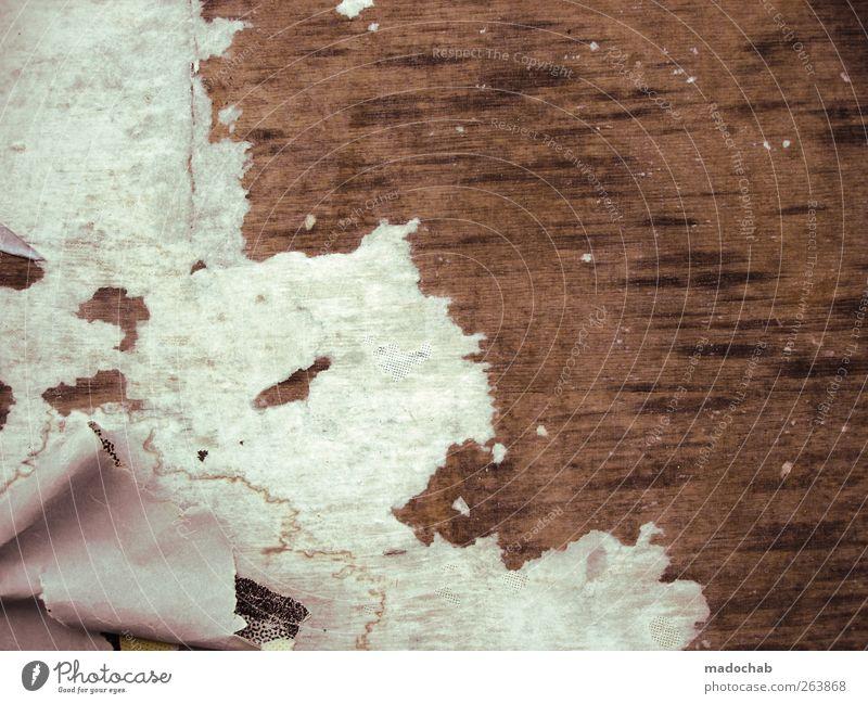 White Brown Dirty Floor covering Broken Trashy Shabby Hideous Remainder