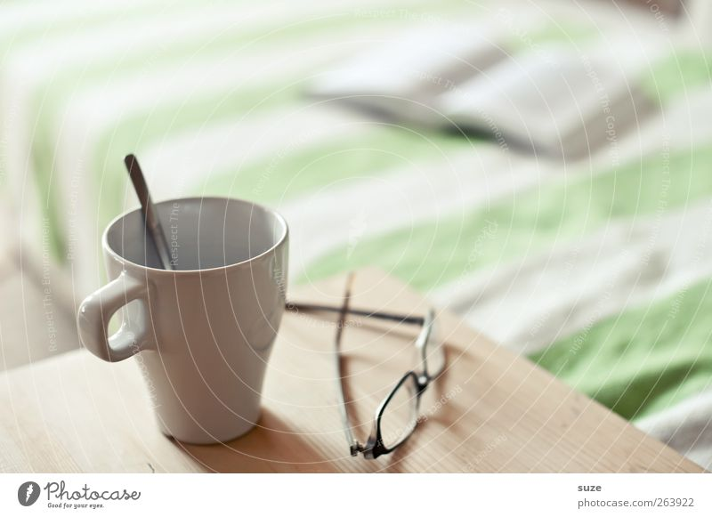 Calm Relaxation Bright Time Leisure and hobbies Book Table Living or residing Beverage Coffee Break Eyeglasses Reading Bed Tea Sofa