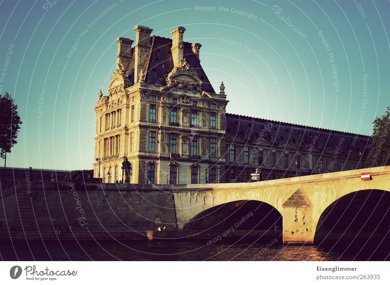 Paris in May France Europe Capital city Old town Bridge Architecture Wall (barrier) Wall (building) Esthetic Historic Seine River Building Colour photo