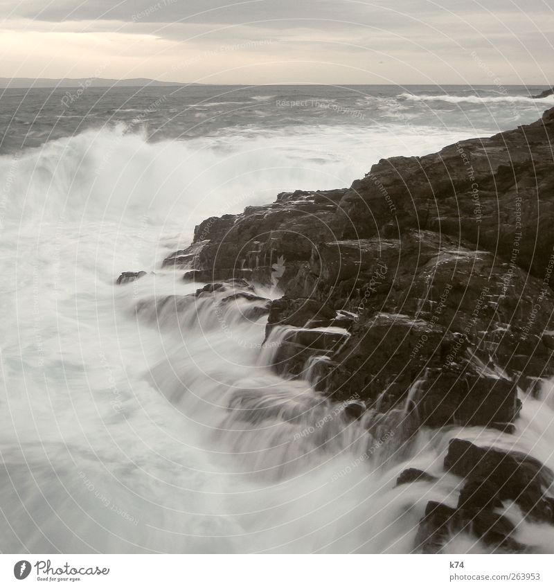 Sky Nature Water Ocean Environment Landscape Coast Stone Waves Wind Power Rock Wild Large Elements North Sea
