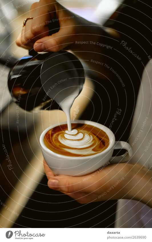 barista at work 2 Hand Joy Lifestyle Style Feasts & Celebrations Freedom Moody Flat (apartment) Leisure and hobbies Decoration Elegant Adventure Fingers Kitchen