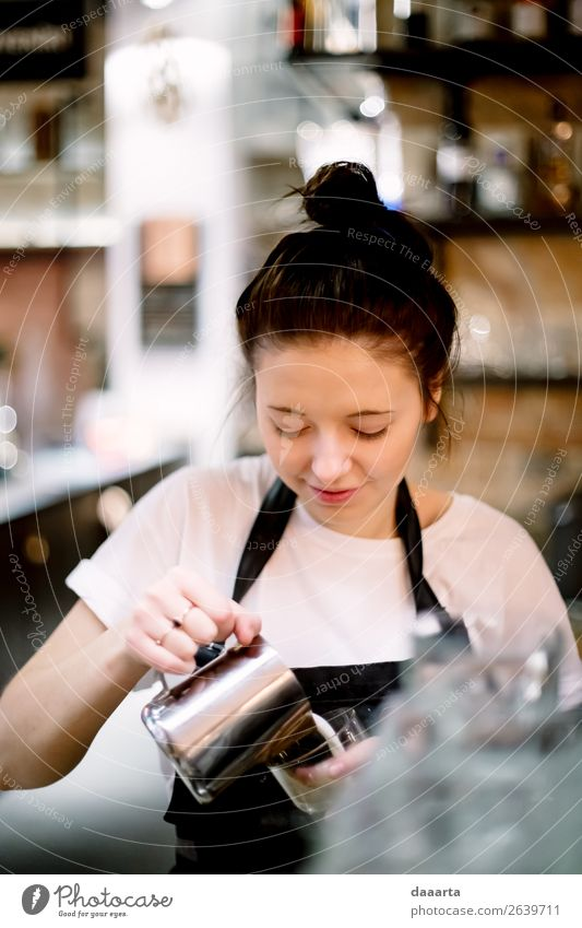 barista 4 Woman Youth (Young adults) Young woman Joy Lifestyle Adults Feminine Style Feasts & Celebrations Freedom Design Leisure and hobbies Elegant Adventure
