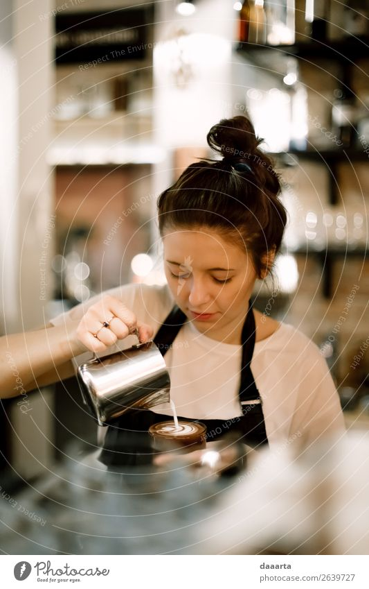 barista 2 Human being Youth (Young adults) Young woman Joy Lifestyle Warmth Style Freedom Work and employment Moody Leisure and hobbies Wild Dream Adventure
