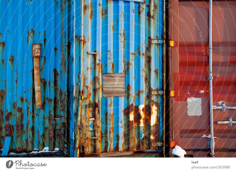Shipping Container Abstract Style Design Industry Steel Rust Old Dirty Blue Red Consistency metal shipping element Weathered worn Rustic Grunge mood background
