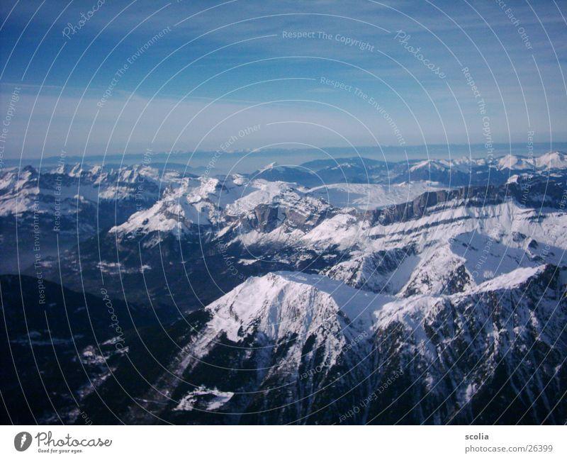 Sky Blue Clouds Snow Mountain Vantage point Peak