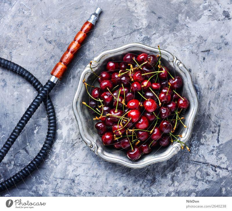 Stylish oriental shisha with cherries hookah tobacco cherry berry kalian smoke east relaxation fruit arabic mouthpiece pipe style turkish merry smoke shisha