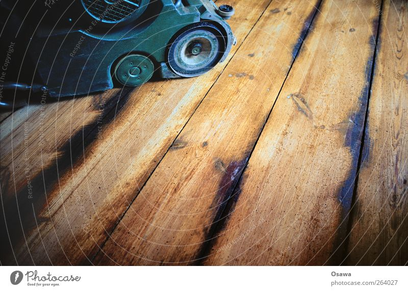 Sand off the planks Joinery Redecorate Floor covering wood refinement Parquet floor Craft (trade) Construction site Work and employment Wooden floor Floorboards