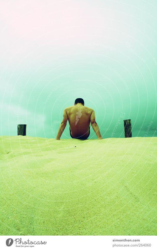 Human being Ocean Summer Beach Sand Healthy Back Esthetic Beauty Photography Dune Summer vacation Musculature Body
