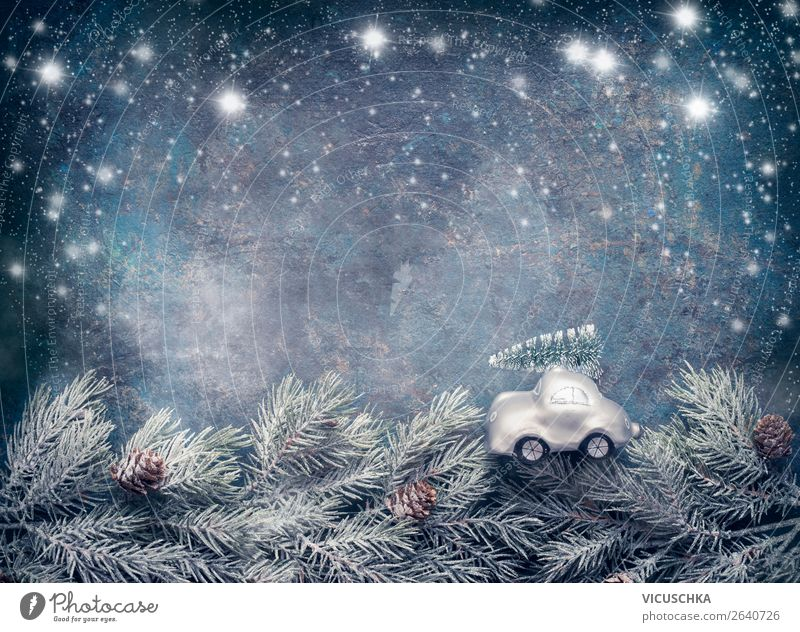 Nature Christmas & Advent Blue Winter Background picture Snow Style Feasts & Celebrations Moody Design Snowfall Decoration Retro Symbols and metaphors Tradition