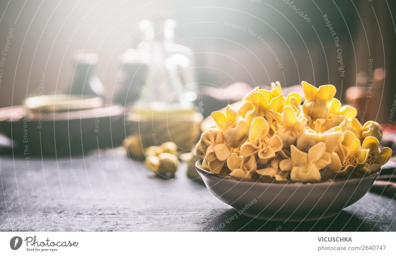 Bowl with fresh tortellini Food Dough Baked goods Nutrition Lunch Asian Food Style Design Table Restaurant Background picture Cooking Ravioli Tortellini