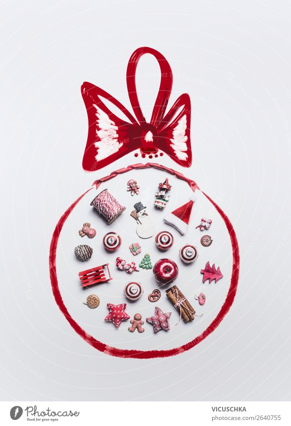 Christmas motif with Christmas decoration in a Christmas ball Shopping Style Design Joy Winter Decoration Feasts & Celebrations Christmas & Advent Ornament