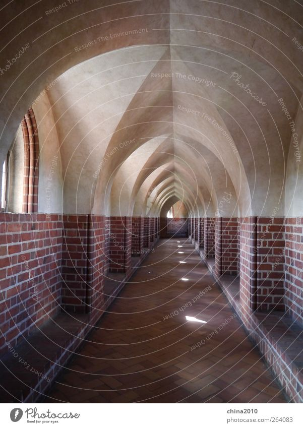 Cloister - Marienburg Malbork Poland Europe Deserted Church Castle Manmade structures Architecture Wall (barrier) Wall (building) Window Tourist Attraction