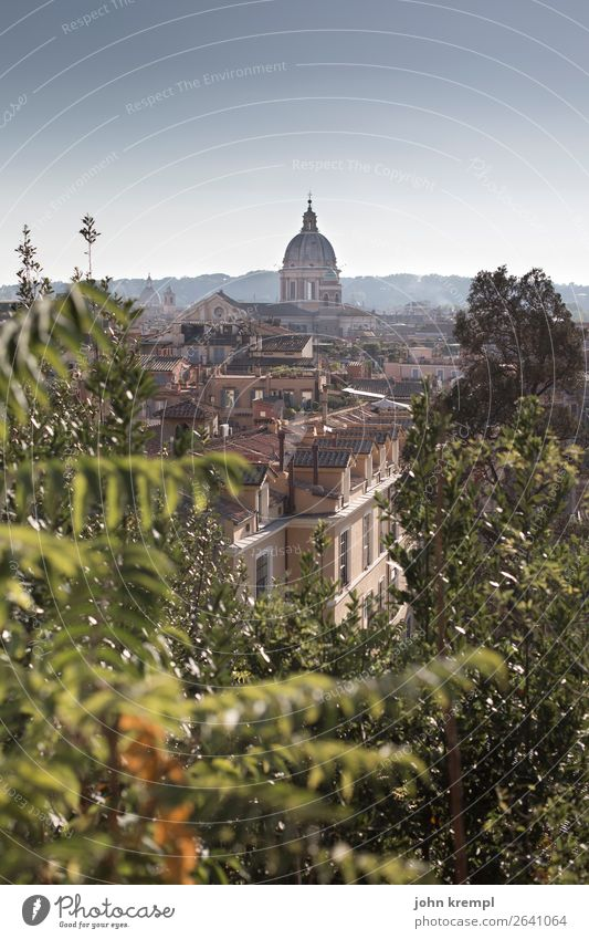 Vacation & Travel Town Far-off places Religion and faith Tourism Horizon Church Idyll Transience Italy Hill Capital city Old town Downtown Nostalgia Dome