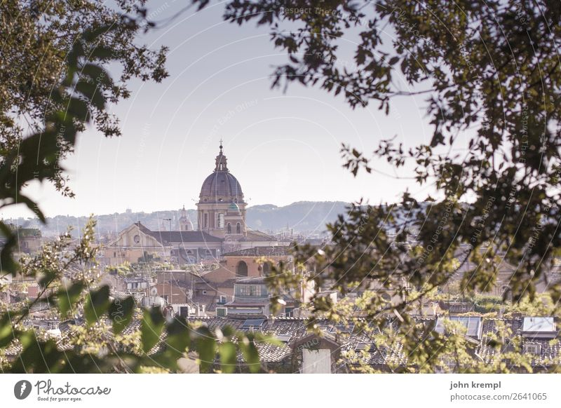 Rome I Italy Capital city Downtown Old town Dome Building Architecture Basilica Roof Domed roof Tourist Attraction Basilica of Santi Ambrogio and Carlo
