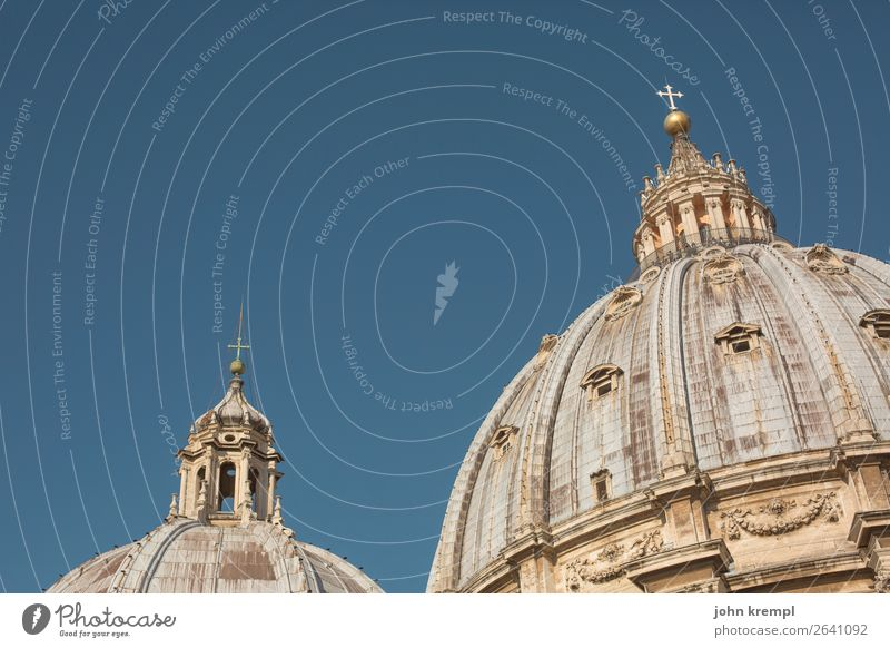 XXI Rome - The Vatican dome show St. Peter's Cathedral Religion and faith Tourist Attraction Italy Historic Church Landmark Sky Tourism Colour photo