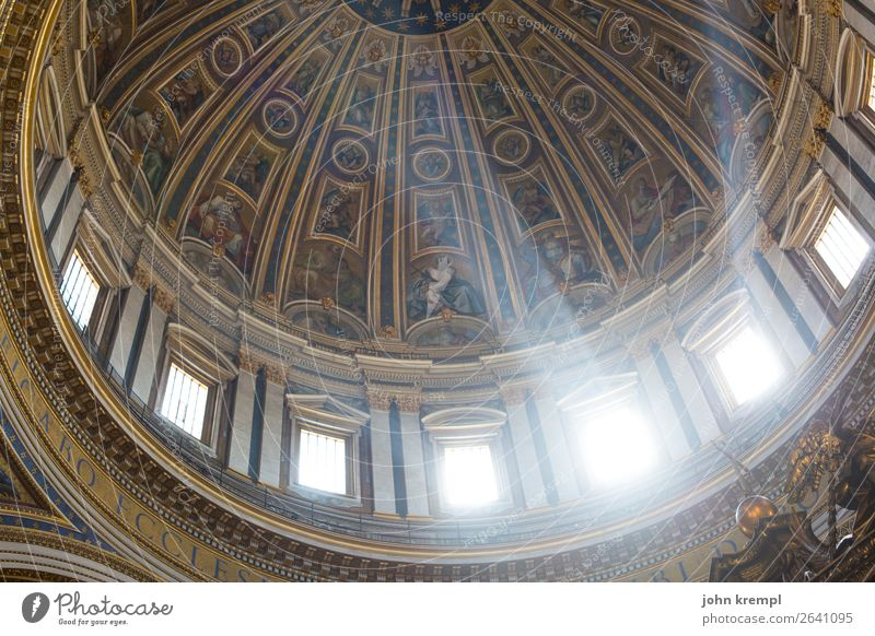 Rome VIII - A ray of hope Vatican Italy Dome Manmade structures Domed roof Window Tourist Attraction Landmark St. Peter's Cathedral Illuminate Exceptional