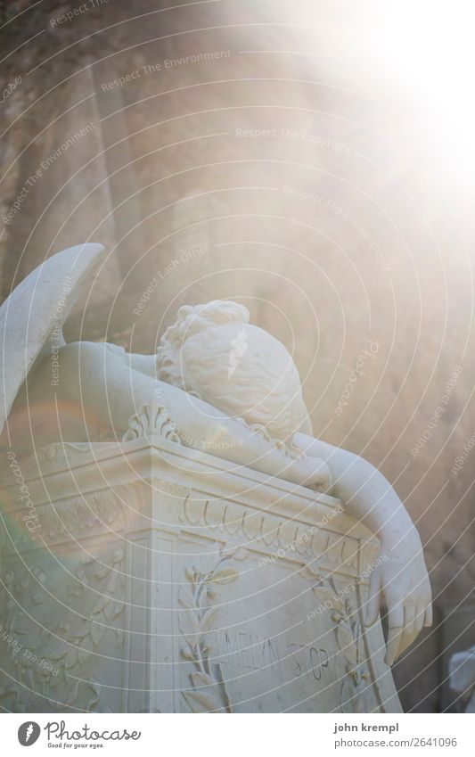 Sadness Death Romance Italy Historic Grief Capital city Angel Sculpture Cemetery Rome Compassion
