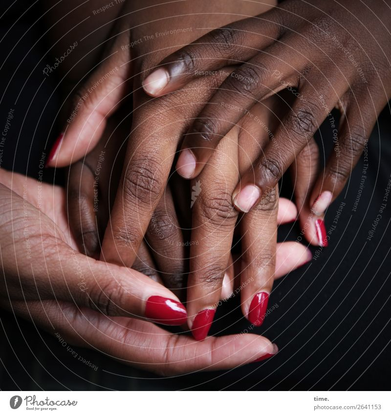Lifelines #116 Skin Nail polish Feminine Hand Fingers 2 Human being Touch Discover To hold on Communicate Beautiful Emotions Passion Trust Safety (feeling of)