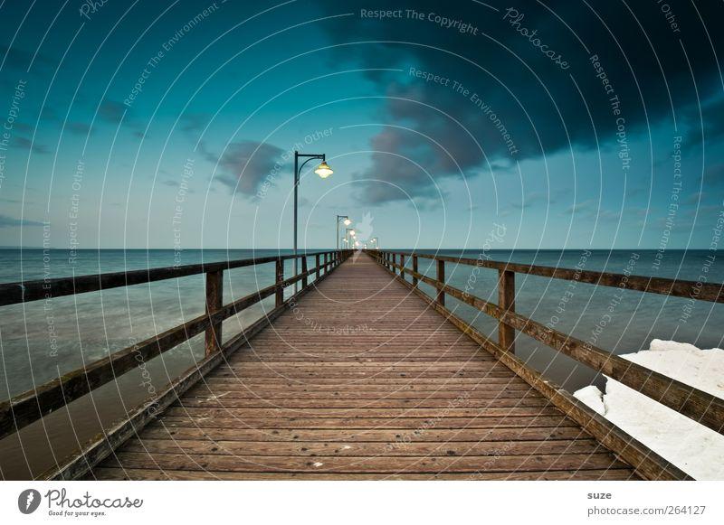 *North traveller* - for you! Environment Nature Landscape Elements Water Sky Clouds Horizon Climate Snow Coast Baltic Sea Ocean Bridge Lanes & trails Wood Line