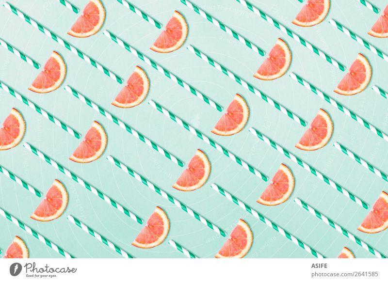 Blood orange pattern on aquamarine background Fruit Juice Design Summer Decoration Group Fresh Hip & trendy Funny Natural Above Blue blood orange straw