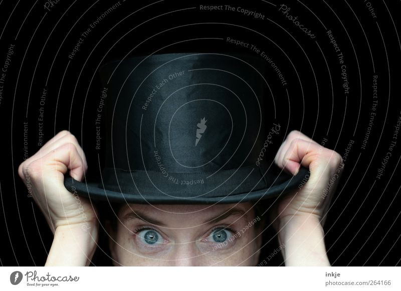 Human being Hand Joy Black Adults Eyes Life Playing Style Moody Leisure and hobbies Elegant Curiosity To hold on Hat Historic