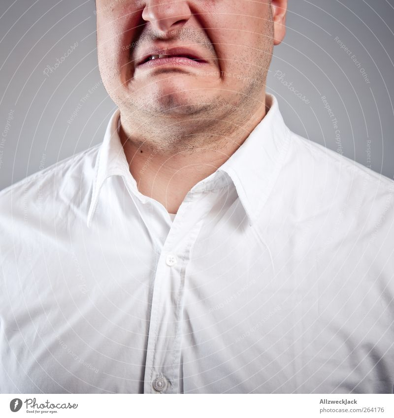 Human being Youth (Young adults) White Adults Mouth Masculine 18 - 30 years Young man Anger Shirt Surprise Disgust Frustration Black-haired Short-haired