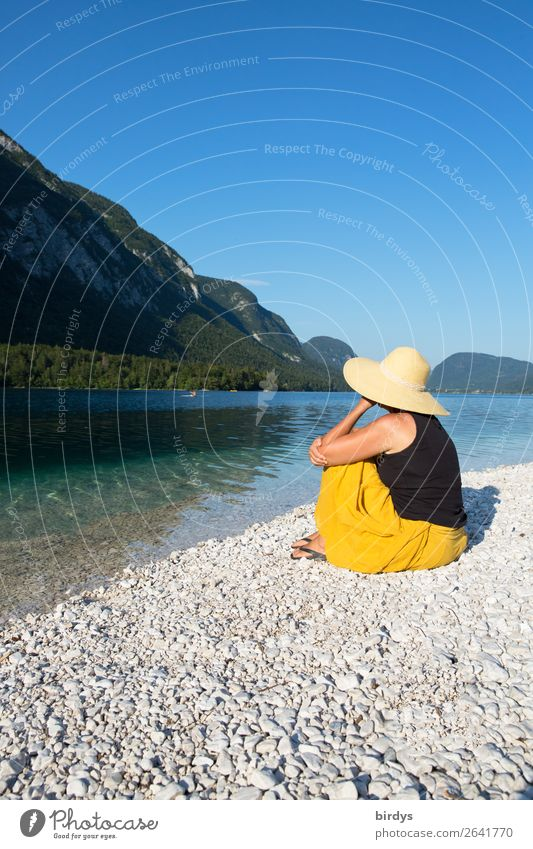 Woman Human being Vacation & Travel Nature Summer Beautiful Landscape Relaxation Mountain Adults Natural Feminine Happy Style Lake Leisure and hobbies