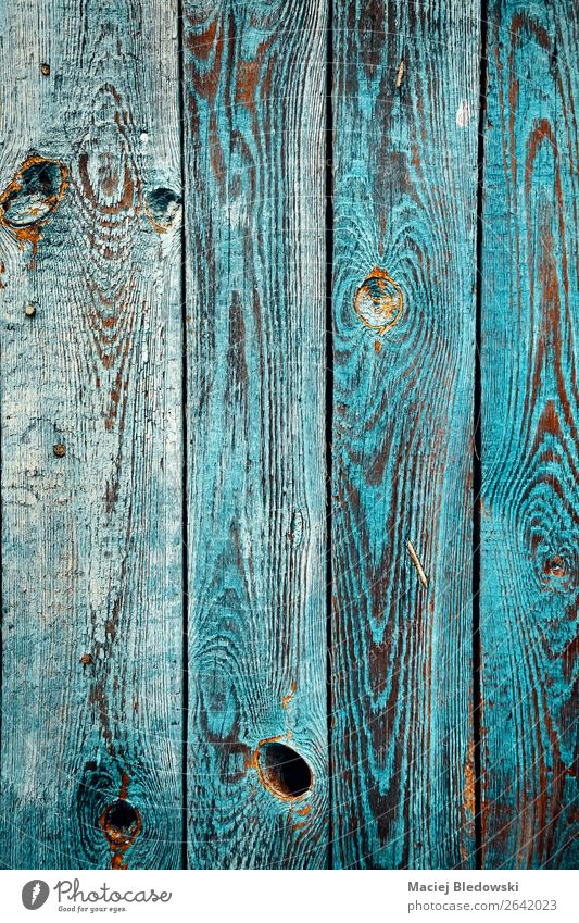 Old wooden wall with peeling paint. Wallpaper Village Wall (barrier) Wall (building) Garden Blue Living or residing background Grunge Rustic vintage Weathered