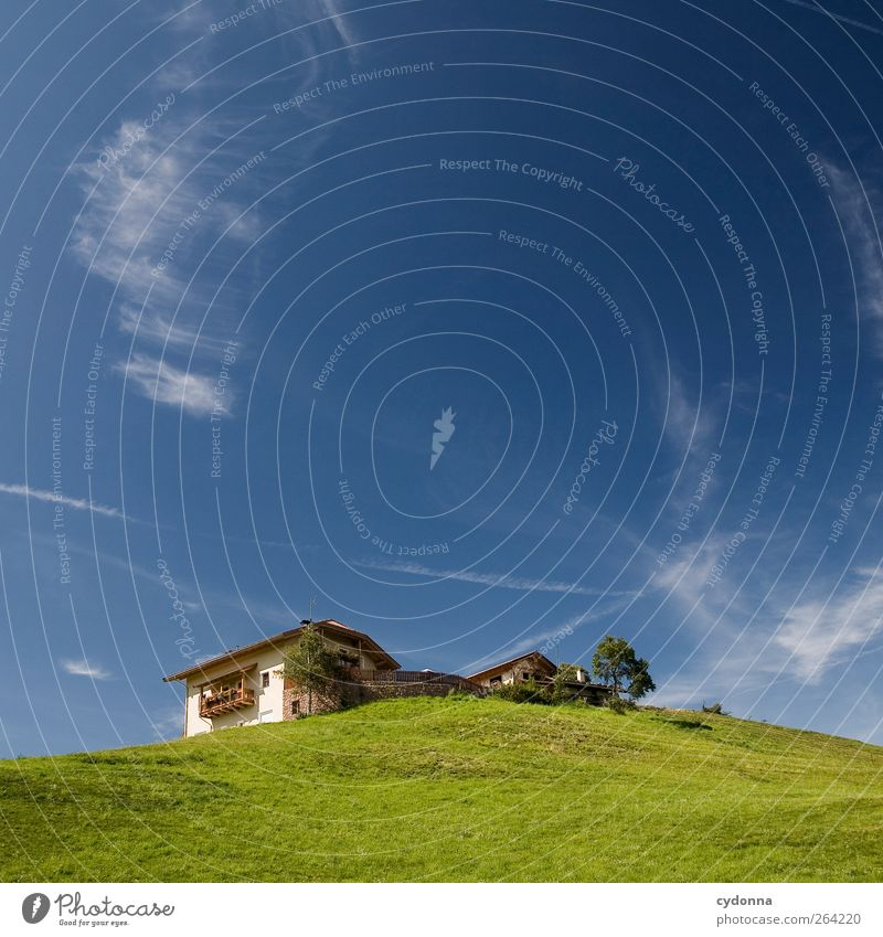 Sky Nature Summer Loneliness House (Residential Structure) Environment Landscape Meadow Tourism Uniqueness Individual Hill Home country Remote Detached house
