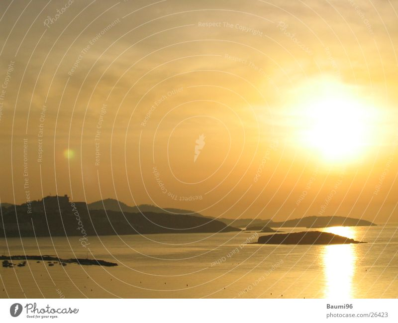 hIbiza@Evening Beach Ocean Sunset Europe Water Sand Light (Natural Phenomenon) Landscape