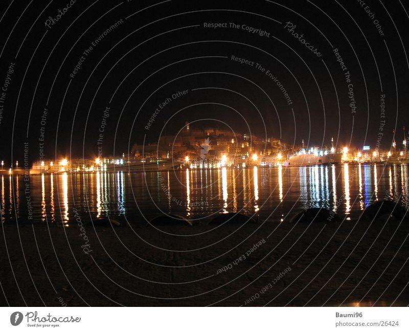 Ibiza@Night#2 Town Night life Ocean Bar Light Europe instructed