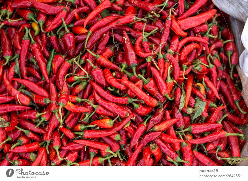 red chilli peppers with pink pepper Red Food Natural Above Vegetable Hot Horizontal Ingredients Organic