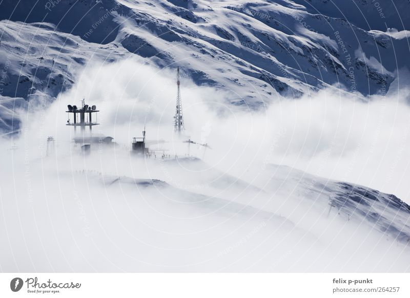 cloudy with view on meatballs Environment Nature Air Water Sky Clouds Winter Alps Mountain Peak Snowcapped peak Glacier Esthetic Cold Beautiful Cliche Blue