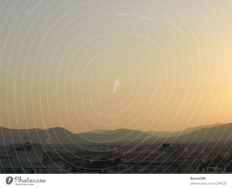 Ibiza@Morning Sunrise Twilight Sunset Dark Town Europe Landscape Bright Mountain
