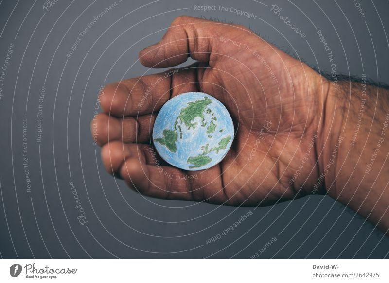 the world in my hands Education Science & Research Renewable energy Energy crisis Industry Human being Masculine Young man Youth (Young adults) Man Adults Life