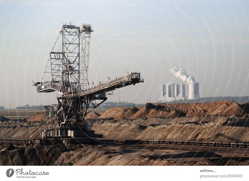Lignite mining and power plant Soft coal mining Electricity generating station conveyor bridge Mine tower Soft coal dredger Excavator hoisting crane Slagheap