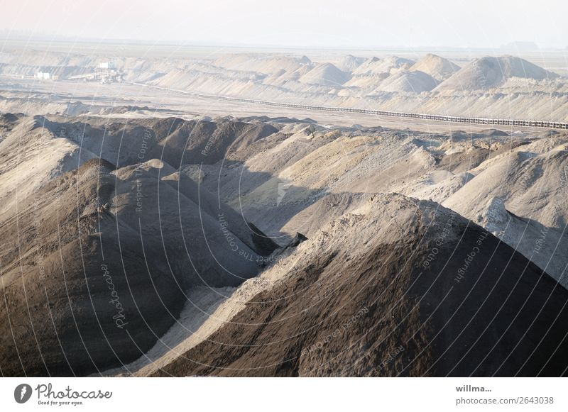 Romantic dumps in open pit mining Work and employment Energy industry Renewable energy Energy crisis Landscape Climate change Gloomy Bizarre