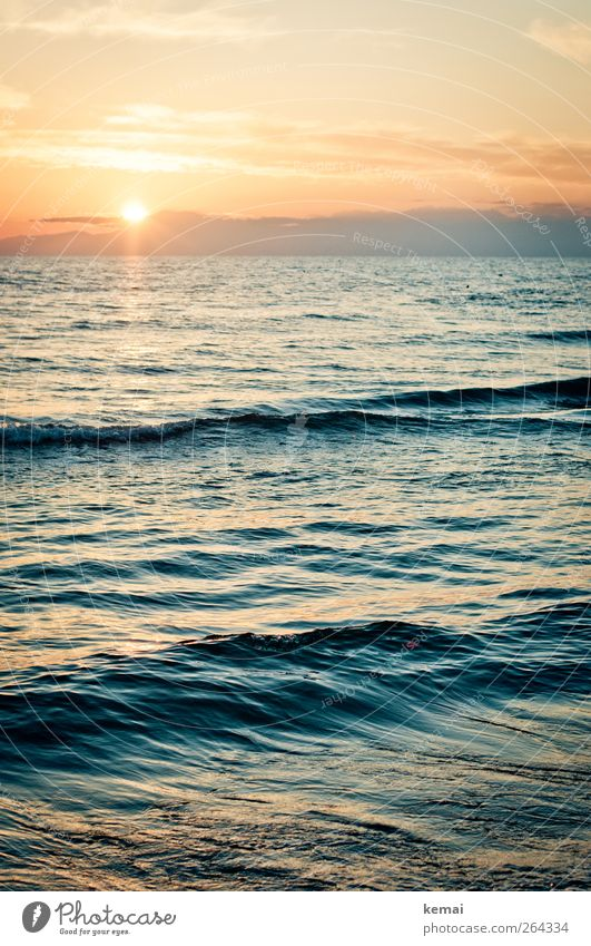 Water Vacation & Travel Sun Ocean Summer Beach Calm Relaxation Emotions Freedom Coast Horizon Waves Contentment Wet Trip
