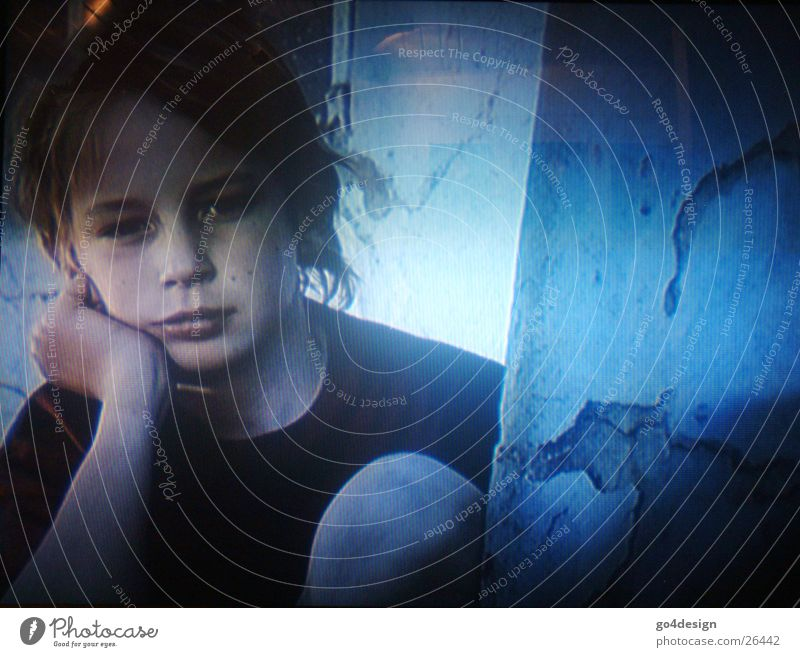 Child Man Blue Loneliness Boy (child) Grief Television Thought Media